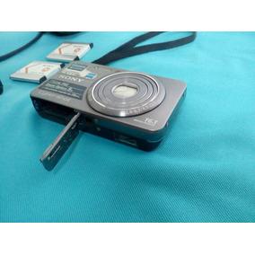 Câmera Dig Sony + 7 Acessorios 16.1 Mp Filme Hd Zoom De 5 X