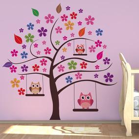 Adesivo De Parede Árvore Das Corujas Para Quarto Infantil