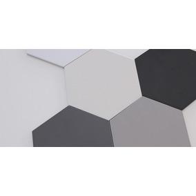 Ceramica Hexagonal Acuarela Negra O Blanca Piso Pared
