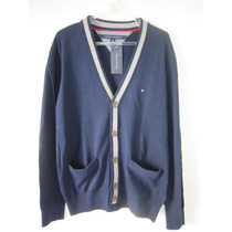 Blusa Tricot Tommy Hilfiger Cardigan Masculino - Ver Cor Tam