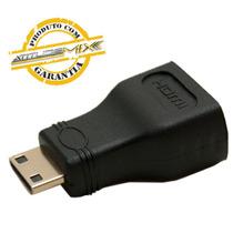 Adaptador Mini Hdmi Macho X Hdmi Femea   1080i Tablet Gold