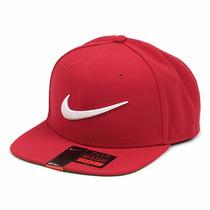 Boné Nike Swoosh Pro Aba Reta Vermelho Original Com Nfe