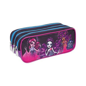 Estojo Escolar 3 Divisoes Monster High 16y01 Sestini
