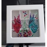 Caja De Te 9 Div. Con Vidrio Pintado Alta Calidad