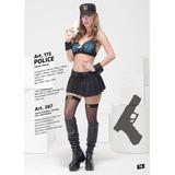 Disfraz Policia Art 175 Incluye Medias,4bidden Lenceria
