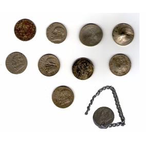 Curiosidad 10 Antiguas Monedas De $1 Mexicanas Dañadas