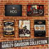 Placa Decorativa Harley Davidson Parede Vintage Motos Retrô