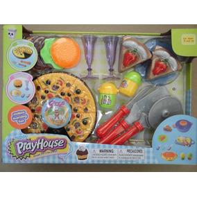 Juego De Cocina Para Niñas Pizza Juguete Play House
