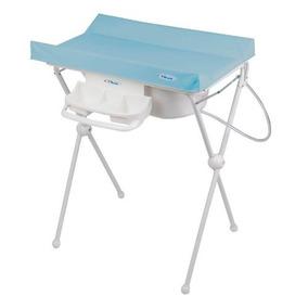 Banheira Para Bebê Com Trocador Luxo Hércules Azul - Top !!