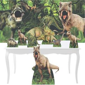 Combo Festa Prata Dinossauro Jurassic Park Totem 88cm