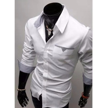 Camisa Casual Luxo Masculina Slim Fit Promoção