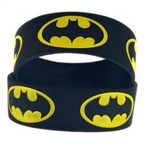 Genial Par De Pulseras De Silicon De Batman De 20 Por 2.5 Cm