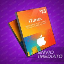 Itunes Gift Card $25 - Cartão Itunes Usa - Melhor Preço!