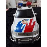 Carrinho Carro Camionete Pickup Jipe De Polícia À Pilha C634