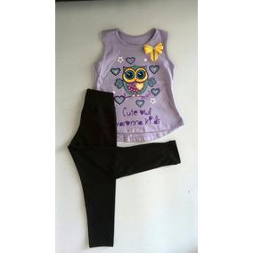 Ropa De Niñas Infantil Infantil Pantalón Leggins Blusa Bebé
