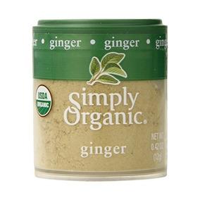 Simplemente Orgánico Certificado De Ginger Root De Tierra Or