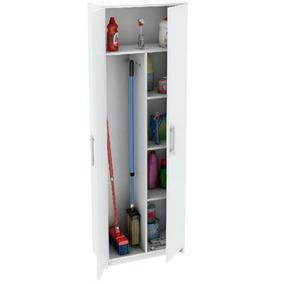 Escobero Blanco 1.8m 2 Puertas Blanco