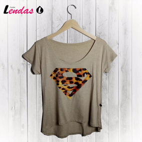 Blusinha Camiseta T-shit Feminina Blusa Super Man #tsh014