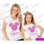 Tal Mãe Tal Filha Baby Look Kit 2 Uni Minnie Queen Princess