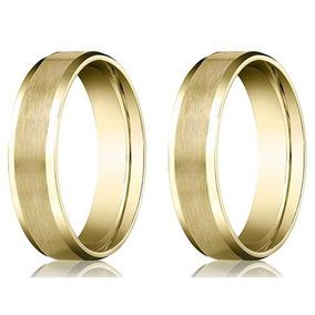 Par De Alianças De Casamento Ouro 18k Meia Cana 5mm 20 Grs