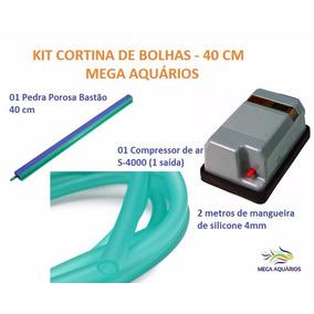 Kit Cortina De Bolhas Porosa 40cm+ Compr 4000s 110v+ 2 Mangu