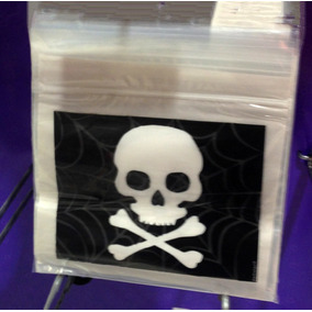 30 Bolsas Dulcero Plástico Calavera Halloween Fiesta Piratas