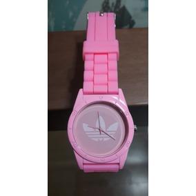 2 X $3.000 Reloj Tipo adidas Correa Silicona Rosado