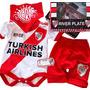 river logo turkish body manga corta bermuda short babero bandana en caja
