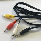 Cable Punta 3.5 Mm De Sonido A 3 Puntas Rca Para Audio Video