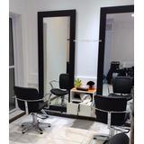 Espejo Salon Estetica 1.70 X 0.70m - Marco Negro- Unico! Gba