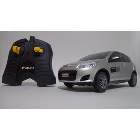 Carro Controle Remoto Fiat Novo Palio Prata 1/18 Cks