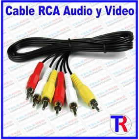 Cable Rca Audio Y Video 1.5 Mts Para Dvd Tv Decodificador