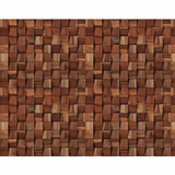 Papel De Parede 3d Sala Mosaico Madeira Vinílico Adesivo