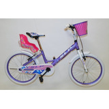 Bicicleta R-20 Aluminio Slp Dolphin Nena Lila/blanco