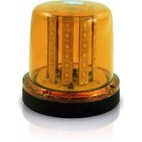 Sinalizador Giroflex Rotativo Led Amarelo Flash 12/24v