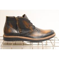 Zapatos De Cuero, Borcegos De Cuero Gaspeado Qm