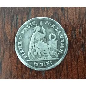 Moneda Peruana Del Año 1863 Tamaño Pequeño