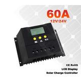 Controlador De Carga Sola 60a 12/24volts C/nf