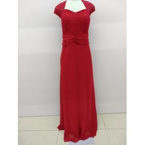 Vestido Vermelho Plus Sizer Formatura Casamento Madrinha Fes