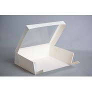 Caja Xg 34,5x26x10cm Visor (x100u) Desayuno Pvc Acetato 054