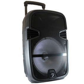 Caixa De Som Amplificada 250watts Bluetooth C/ Microfone