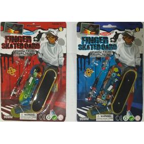 4 Skate De Dedo Com Led Fingerboard + Acessorios !