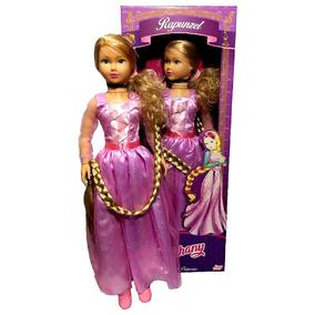 Boneca Gigante Stephany Princesa Rapunzel 80cm - Baby Brink
