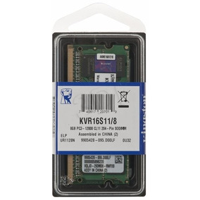 Memória Kingston 8gb Ddr3 1600mhz Para Notebook / Netbook