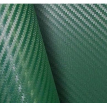 Adesivo Envelopamento Carro Moto Fibra Carbono Verde 34x50cm