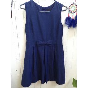 Vestido Niña , Forever 21 . Azul .10/11 Años Muy Buen Estado