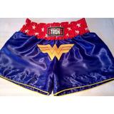 Shorts Muay Thai Strong, Edição Mulher Maravilha