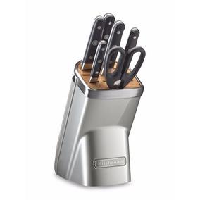 Cuchillos De Cocina Kitchenaid Kkfma07 Sprof. B/7 Pzas Azuca