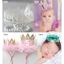 Diadema Corona Princesa Niña Bebe Accesorios Sesion De Fotos