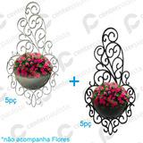 10 Vasos Arandela Plantas Suspenso Vertical Decorativo Cores